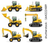 vector construction machines... | Shutterstock .eps vector #164222489