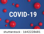 Small photo of Inscription COVID-19 on blue background. World Health Organization WHO introduced new official name for Coronavirus disease named COVID-19