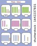 place value worksheet for... | Shutterstock .eps vector #1642237831