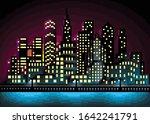 Pixel Art City Landscape Vector ...