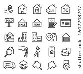 set of real estate icons.... | Shutterstock .eps vector #1642248247