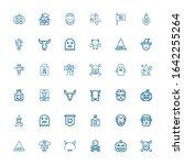 editable 36 evil icons for web... | Shutterstock .eps vector #1642255264