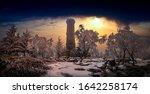 Amazing Winter View Of Frozen...