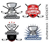 ice hockey cup champions labels ... | Shutterstock .eps vector #164226374