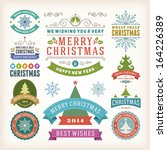 christmas decoration vector... | Shutterstock .eps vector #164226389
