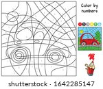 Red Car. Color By Numbers....