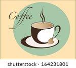coffee cup emblem | Shutterstock . vector #164231801