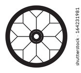 bicycle wheel  vector format | Shutterstock .eps vector #164231981