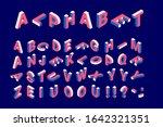 isometric 3d colorful alphabet... | Shutterstock .eps vector #1642321351