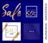set of elegant sale covers.... | Shutterstock .eps vector #1642325614