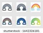 rainbow icon in isolated on...
