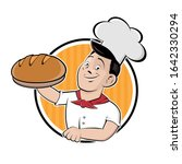 funny cartoon sign of a baker... | Shutterstock .eps vector #1642330294