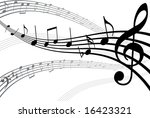 abstract musical background.... | Shutterstock .eps vector #16423321
