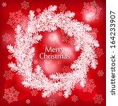 red shining christmas... | Shutterstock .eps vector #164233907