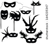 collection of silhouettes... | Shutterstock .eps vector #164235347