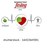 intermittent fasting as a part... | Shutterstock .eps vector #1642364581