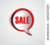 paper speech bubble sale ... | Shutterstock .eps vector #164237204