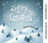 christmas greeting card. merry... | Shutterstock .eps vector #164238314