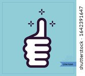 front view thumb icon.... | Shutterstock .eps vector #1642391647
