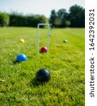 Small photo of croquet lawn in the summer