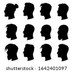 hair style man. men with... | Shutterstock .eps vector #1642401097