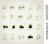 House Icons Set   Isolated On...