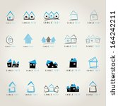 Stock vector house icons set isolated on gray background vector illustration graphic design editable for 164242211