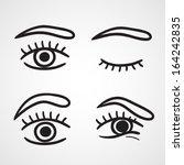 Eyes Icons Design Over White...