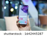 Small photo of Munich, Germany – February 4, 2020: Samsung announced a new flagships Galaxy S20 Plus