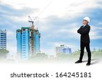 fore man looking for building  | Shutterstock . vector #164245181