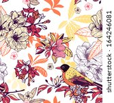 seamless floral pattern with... | Shutterstock .eps vector #164246081