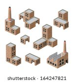 isometric images of industrial... | Shutterstock . vector #164247821