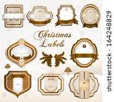 sepia christmas label | Shutterstock . vector #164248829