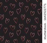heart shape brush strokes... | Shutterstock .eps vector #1642522771