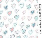 hearts seamless pattern | Shutterstock .eps vector #164253371