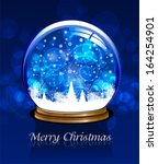 vector snow globe. this... | Shutterstock .eps vector #164254901