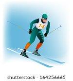 skier | Shutterstock .eps vector #164256665