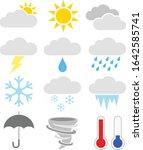 vector illustration of twelve... | Shutterstock .eps vector #1642585741