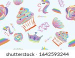 abstract pastel hand drawn... | Shutterstock .eps vector #1642593244