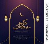 ramadan kareem poster...   Shutterstock .eps vector #1642605724