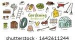 gardening huge doodles set.... | Shutterstock .eps vector #1642611244