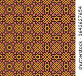 seamless texture with arabic... | Shutterstock . vector #1642627654