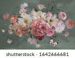 luxurious baroque bouquet.... | Shutterstock . vector #1642666681