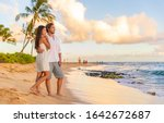 Couple On Romantic Sunset Beach ...
