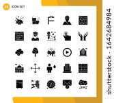 25 icon set. solid style icon...