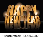 3d golden happy new year 2014... | Shutterstock .eps vector #164268887