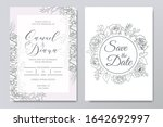 hand drawn floral wedding... | Shutterstock .eps vector #1642692997