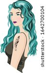 Beautiful Girl With Blue Hair...