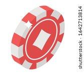 casino token  isometric icon of ...   Shutterstock .eps vector #1642713814