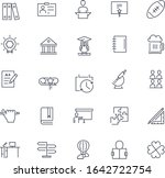 line icons set. college pack.... | Shutterstock .eps vector #1642722754